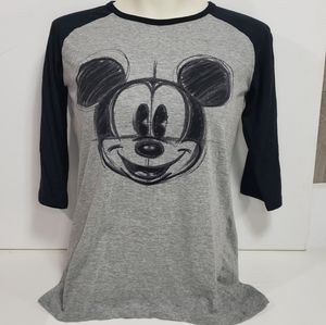 Disney 3/4 Sleeve Mickey Mouse Shirt